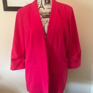 Apt 9 Hot PINK lined blazer-super cute, soft silky